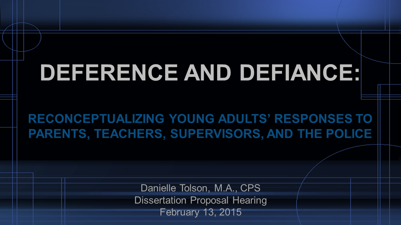 Dissertation proposal hearing